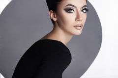 Beauty young woman with make-up Stock Image