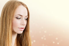 Beauty young woman portrait Royalty Free Stock Photos