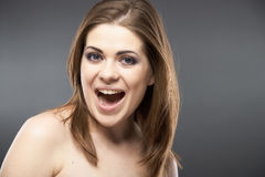 Beauty young woman portrait Royalty Free Stock Images