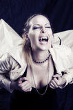 Beauty young woman screaming portrait Royalty Free Stock Photo