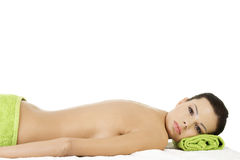 Beauty young woman in spa. Stock Image