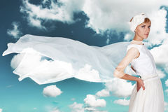 Beauty young woman in white dress Royalty Free Stock Image