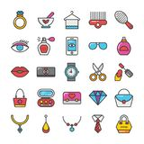 Beauty And Fashion Colored Vector Icons Set 2 Stock Photography