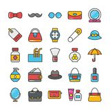 Beauty And Fashion Colored Vector Icons Set 3 Royalty Free Stock Photography