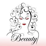 Beauty youth concept. Beautiful woman outline - cosmetic concept - graceful ageing Stock Photos