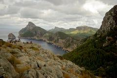 beautyful横向岩石西班牙假期 免版税库存图片
