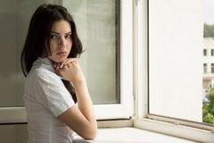 beautyful πορτρέτο brunette Στοκ Φωτογραφίες
