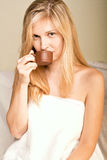 beautyful женщина спы Стоковое Изображение