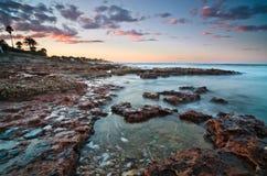 beautyful заход солнца seascape Стоковая Фотография RF