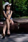 Beautyful asian girl. A beautiful asian girl portrait in the garden Stock Images