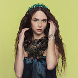 Beautyful brunette woman with accesories Stock Photo