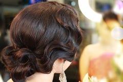 Beautyful buktade hår Arkivbild