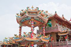 The beautyful Chinese shrine Royalty Free Stock Photography