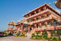 The beautyful Chinese shrine and the blue sky Royalty Free Stock Image