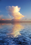 beautyful cloudscape奥秘 库存图片