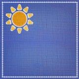 Beautyful fabric sun icon. Royalty Free Stock Photo