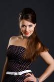 Beautyful girl on black background Stock Photos