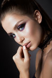Beautyful girl with bright make up Royalty Free Stock Photo