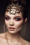Beautyful girl with bright make up Royalty Free Stock Photos