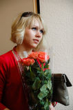 Beautyful girl and roses Royalty Free Stock Photos