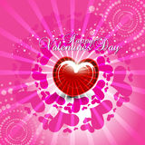 Heart in pink background. Beautyful heart in pink background for Happy valentines Day festival Royalty Free Stock Photography