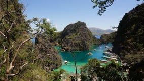 Beautyful lagoon in Kayangan Lake, Philippines, Coron, Palawan. stock footage