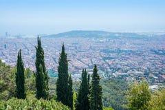 Beautyful-Landschaft nahe dem Tempel des heiligen Herzens auf Berg Stockfoto