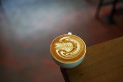 Beautyful lattekonst Arkivbild