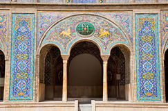 Beautyful mosaic of Golestan palace. Beautyful mosaic arc of Golestan  palace, Tehran, Iran Royalty Free Stock Image