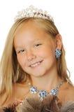 Beautyful Prinzessin mit Federgebläse Stockfotografie