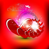 Valentines Day Background. Beautyful red color valentines day background with shiny heart Royalty Free Stock Photos