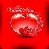 Valentines day background. Beautyful red color valentines day background with shiny heart Royalty Free Stock Image