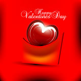 Valentines day background. Beautyful red color valentines day background with shiny heart Stock Images