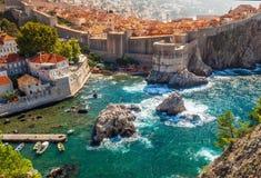 Beautyful sea bay in Dubrovnik. royalty free stock photos