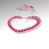 Valentines day background. Beautyful shiny heart shape valentines day festivel with gray background Stock Photography