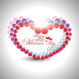Valentines day background. Beautyful shiny heart shape valentines day festivel with gray background Royalty Free Stock Photography
