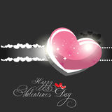 Valentines day background. Beautyful shiny heart valentines day festivel with dark gray background Royalty Free Stock Photography