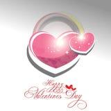 Valentines day background. Beautyful shiny heart valentines day festivel with gray background royalty free illustration
