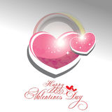 Valentines day background. Beautyful shiny heart valentines day festivel with gray background Royalty Free Stock Photos