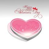 Valentines day background. Beautyful shiny heart valentines day festivel with gray background Royalty Free Stock Images
