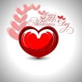 Valentines day background. Beautyful shiny heart valentines day festivel with gray background stock illustration