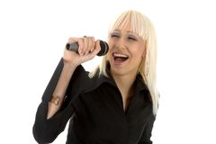 Beautyful singer Royalty Free Stock Images