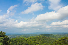 Beautyful sky and clouds landscape view point Stock Photos