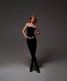 Beautyful trendy girl in a studio Stock Images