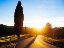 Beautyful Tuscany, panoramic landscape - Italy Stock Photo