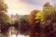 Beautyful widoku jesieni krajobraz Kopenhaga miasto Obrazy Stock