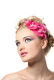 Beautyful woman with flower Stock Photo