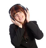 Beautyful woman listening music Royalty Free Stock Image