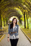 Beautyful woman in park Stock Photo