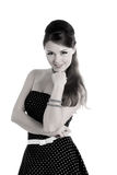 Beautyful woman in retro dress Stock Images